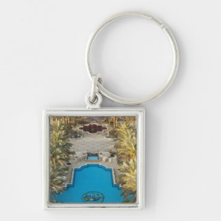 Elevated view Herods Palace Hotel swimming pool Key Ring