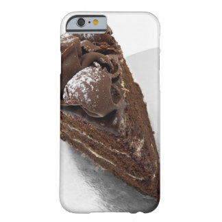 Elevated view of a piece of chocolate cake barely there iPhone 6 case