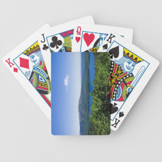 Elevated View of Eagle Lake Bicycle Playing Cards
