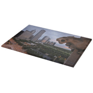 Elevated View of Milennium Park Cutting Board