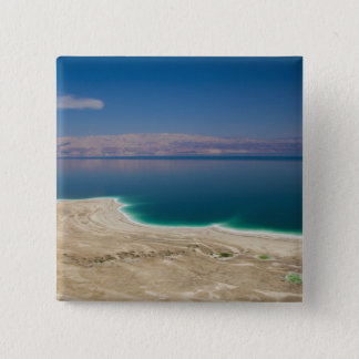 Elevated view of the Dead Sea 15 Cm Square Badge