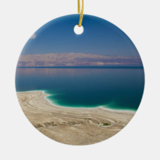 Elevated view of the Dead Sea Christmas Ornament