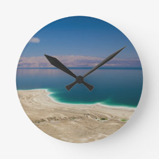 Elevated view of the Dead Sea Round Clock