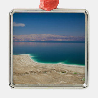 Elevated view of the Dead Sea Silver-Colored Square Decoration