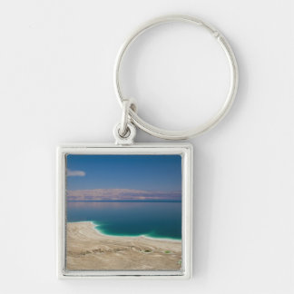 Elevated view of the Dead Sea Silver-Colored Square Key Ring