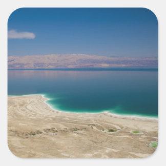 Elevated view of the Dead Sea Square Sticker