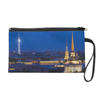 Elevated view of the Television Tower Wristlet Clutch