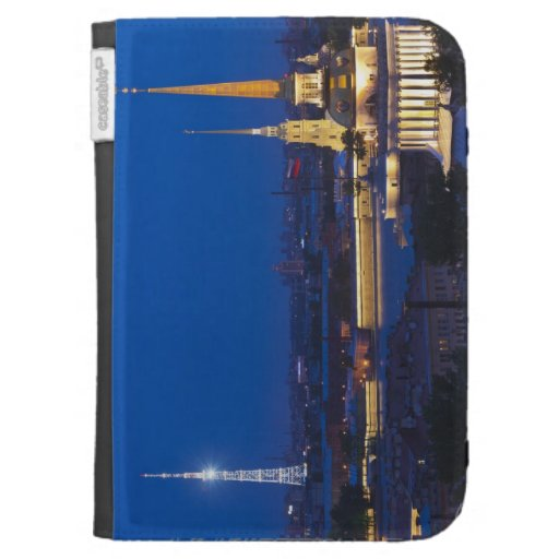 Elevated view of the Television Tower Kindle Folio Case