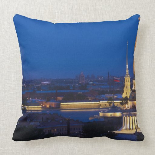 Elevated view of the Television Tower Throw Pillow