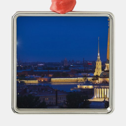 Elevated view of the Television Tower Christmas Ornaments