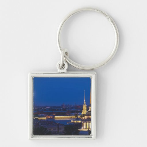 Elevated view of the Television Tower Keychain