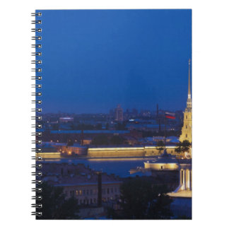 Elevated view of the Television Tower Spiral Notebooks