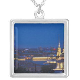 Elevated view of the Television Tower Silver Plated Necklace