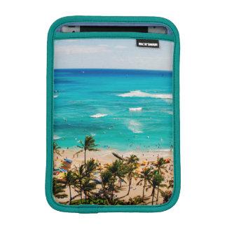 Elevated View Of Waikiki Beach Scene, Honolulu 2 iPad Mini Sleeve