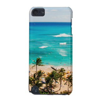 Elevated View Of Waikiki Beach Scene, Honolulu 2 iPod Touch 5G Cases