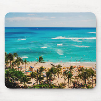 Elevated View Of Waikiki Beach Scene, Honolulu 2 Mouse Mat