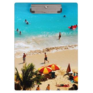 Elevated View Of Waikiki Beach Scene, Honolulu Clipboard