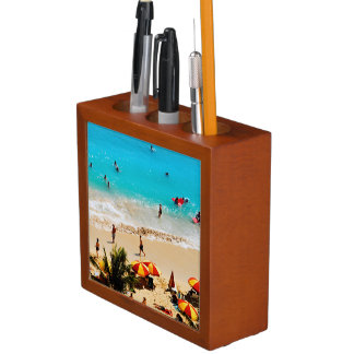 Elevated View Of Waikiki Beach Scene, Honolulu Desk Organiser