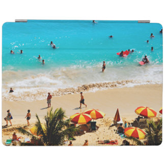 Elevated View Of Waikiki Beach Scene, Honolulu iPad Cover