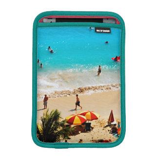 Elevated View Of Waikiki Beach Scene, Honolulu iPad Mini Sleeve