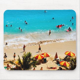 Elevated View Of Waikiki Beach Scene, Honolulu Mouse Pad