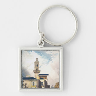 Elevation of an Italian Villa or Hunting Lodge Key Ring