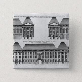 Elevation of the Hopital des Enfants Trouves 15 Cm Square Badge