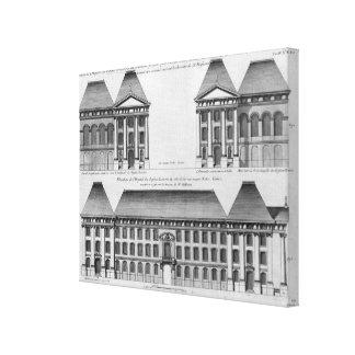 Elevation of the Hopital des Enfants Trouves Canvas Print