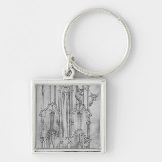 Elevation of the tower of Laon Cathedral Key Ring