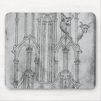 Elevation of the tower of Laon Cathedral Mouse Mat