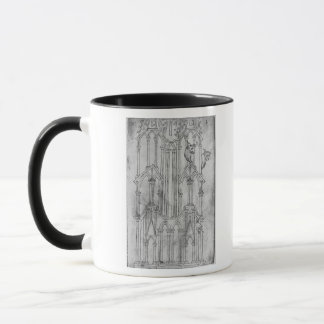 Elevation of the tower of Laon Cathedral Mug