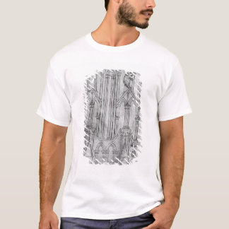Elevation of the tower of Laon Cathedral T-Shirt