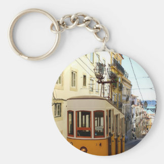 Elevator of the Pipe, Lisbon, Portugal Basic Round Button Key Ring