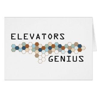 Elevators Genius Greeting Cards