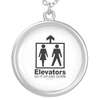 Elevators Round Pendant Necklace