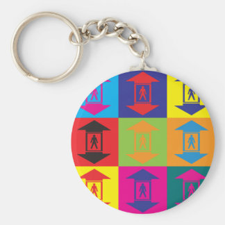 Elevators Pop Art Key Ring