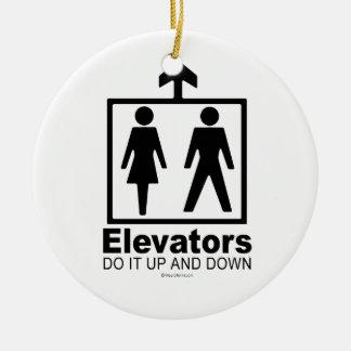 Elevators Round Ceramic Decoration
