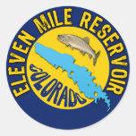 Eleven Mile Reservoir, Colorado Round Sticker