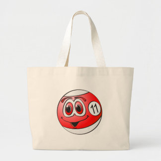 Eleven Pool Ball Cartoon Jumbo Tote Bag