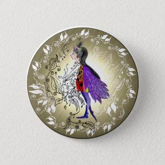 Elf 6 Cm Round Badge