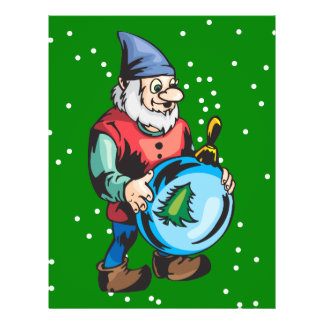 Elf and Blue Christmas Ornament Flyers