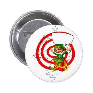 Elf and Christmas 6 Cm Round Badge