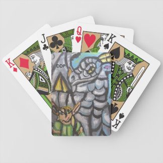 elf and dragon bicycle playing cards