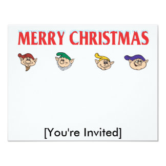 Elf Assembly 11 Cm X 14 Cm Invitation Card