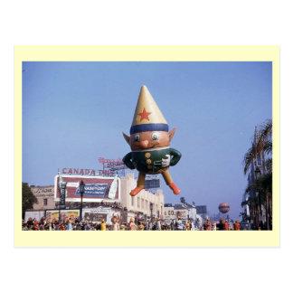 Elf Balloon Parade, Los Angeles Vintage Postcard