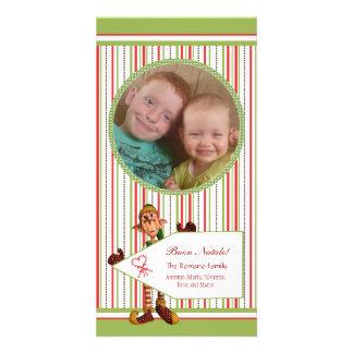 Elf  - Buon Natale Italian Christmas Photo Card