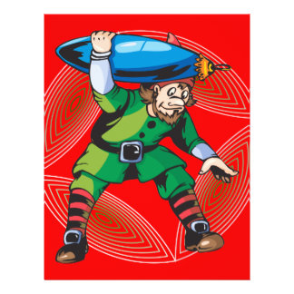 Elf Carrying Christmas Ornament 21.5 Cm X 28 Cm Flyer