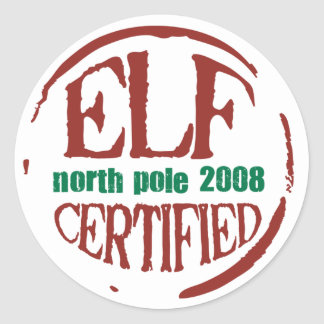 elf certified stamp sticker