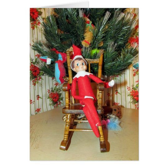 Elf Christmas Card (1186)