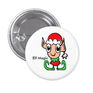 Elf Christmas Magic 3 Cm Round Badge